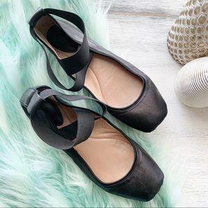 Chloe black ballet flats sz 35